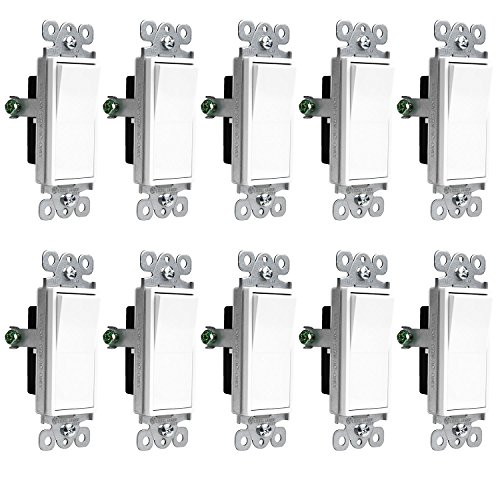 power gear double rocker switch wallplate  white