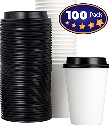 NY Coffee Cup 100 paper cups with lids by SOLO - ElbaCipse